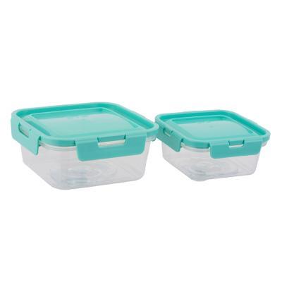 Set 2 contenedores plásticos 0,35/0,7 l turqueza