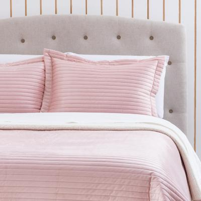 Quilt sherpa rosa King