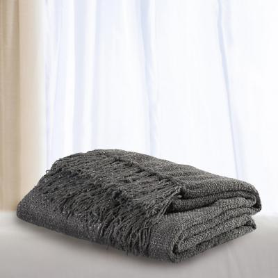 Manta brillos plata 130x160 cm