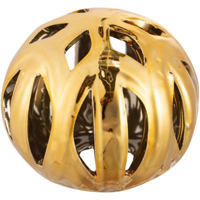 Esfera cerámica 9 cm dorado