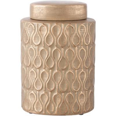 Ánfora cerámica 26 cm dorado