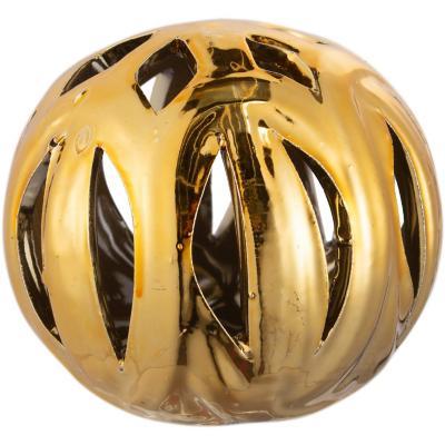 Esfera cerámica 7 cm dorado