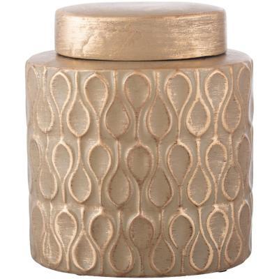 Ánfora cerámica 20 cm dorado