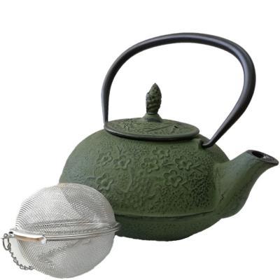 Tetera fierro fundido con filtro 1.0 litros verde