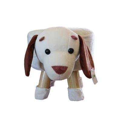 Pouf perro 50x28x28 cm blanco