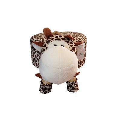 Pouf jirafa 50x28x28 cm café