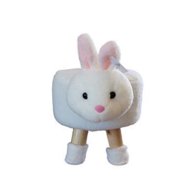 Pouf conejo 50x28x28 cm blanco
