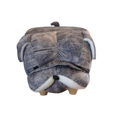 Pouf perro 60x32x32 cm gris