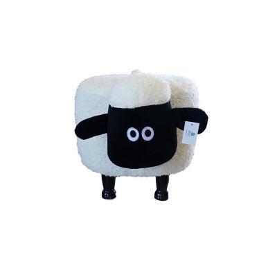 Pouf oveja 60x32x32 cm blanco