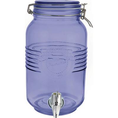 Dispensador de vidrio 3 l azul