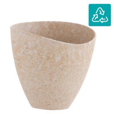 Macetero ecológico café 20,8x12,9x19,7 cm