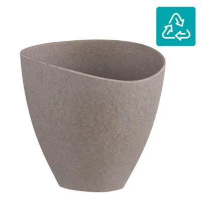 Macetero ecológico gris 20,8x12,9x19,7 cm