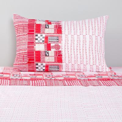 Sábana 144 hilos cerise rosado 1,5 plazas