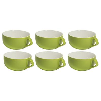 Set 6 mugs 260 cc verde
