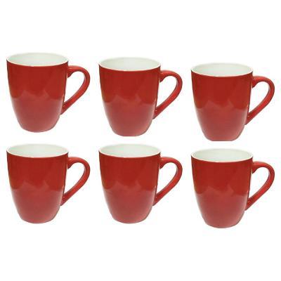 Set 6 mugs 360 cc rojo