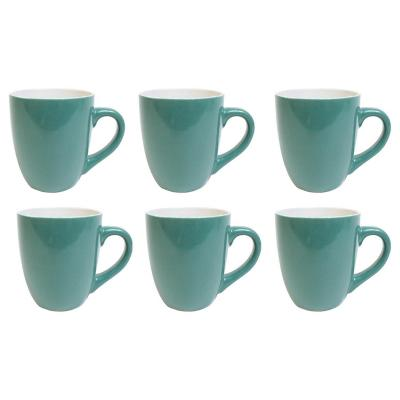 Set 6 mugs 360 cc verde petroleo