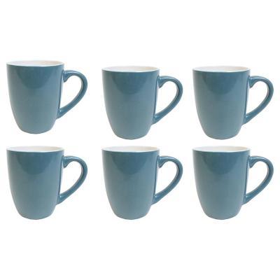 Set 6 mugs 360 cc azul petroleo