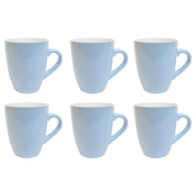 Set 6 mugs 360 cc celeste