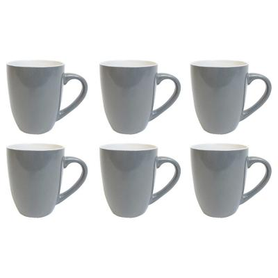 Set 6 mugs 360 cc gris