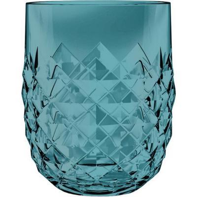 Vaso bajo acrílico Diamond turquesa