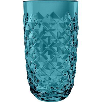 Vaso alto acrílico Diamond turquesa