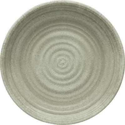 Plato melamina taupe 26,7 cm Medallión