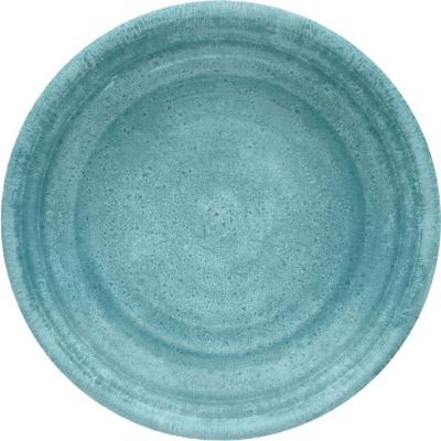 Plato melamina turquesa 21,6 cm Medallión