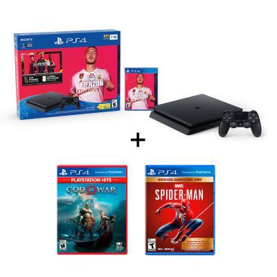 Combo PS4 1TB bundle Fifa 20 + God of War Hits + Spiderman Goty ED