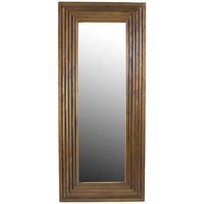 Espejo de pie rectangular madera 185x80x30 cm