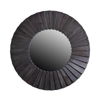 Espejo redondo madera negro 98 cm