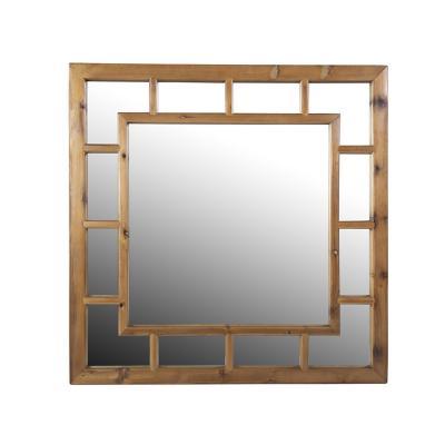 Espejo pared cuadrado geométrico 100x100x3 cm