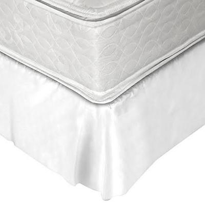 Faldón 144 hilos clásico liso 1 plaza blanco