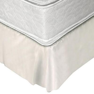 Faldón 144 hilos clásico liso 2 plazas beige