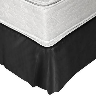 Faldón 144 hilos clásico liso 1,5 plazas negro