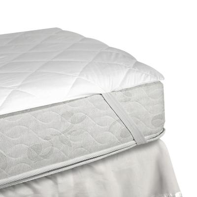 Cubrecolchón elasticado 1,5 plazas blanco