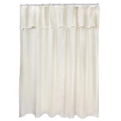 Jgo cortina para baño broderie amanda 6 pzs beige