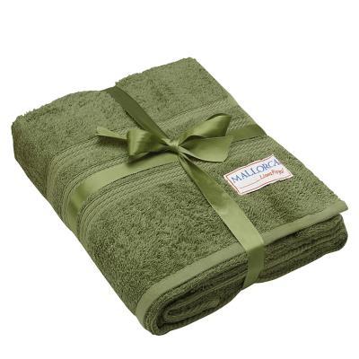 Toallón de baño grecco verde oliva