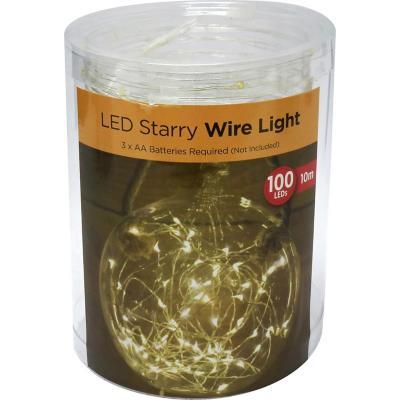 Guirnalda micro led 10m luz cálida