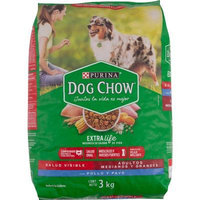 Alimento seco para perro adulto 3 kg pollo y pavo