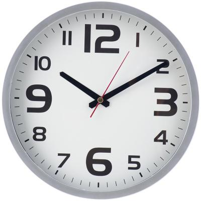 Reloj plata y blanco