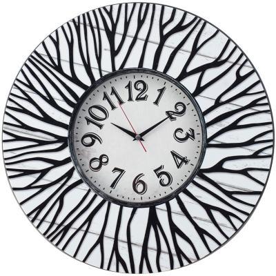 Reloj ramas blanco y negro