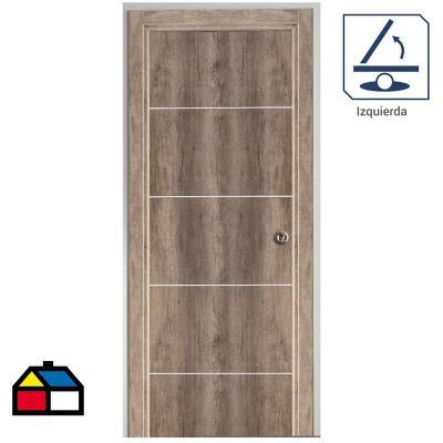Puerta Kit Tekstura Mel.  C/Aplic 65x200 cm der.