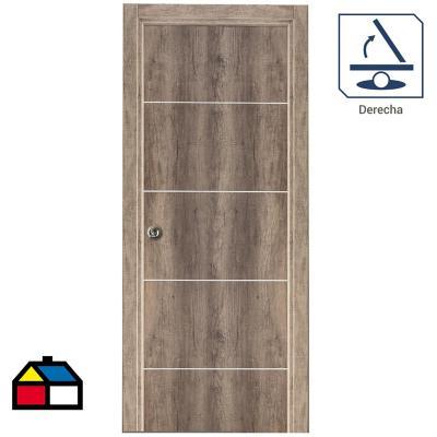 Puerta Kit Tekstura Mel.  C/Aplic 65x200 cm izq.
