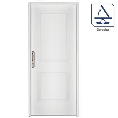Puerta de acero Kit 2 Paneles apertura derecha con marco y cerradura 80 x 200 cm