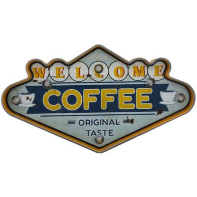 Letrero led welcome coffee bateria 2xAA