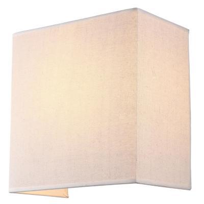 Aplique tela beige cubo 1 luz E27