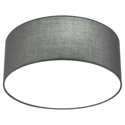 Plafón tela gris circular 40 cm 3 luces E27