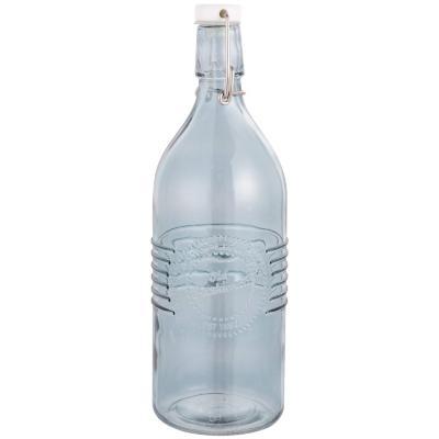 Botella de vidrio celeste 1 l