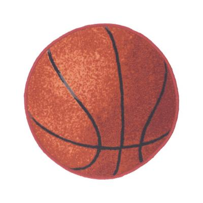 Bajada de cama sport basquet 57x57 cm naranjo