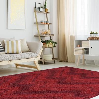 Bajada de cama jet zig zag 60x120 cm rojo